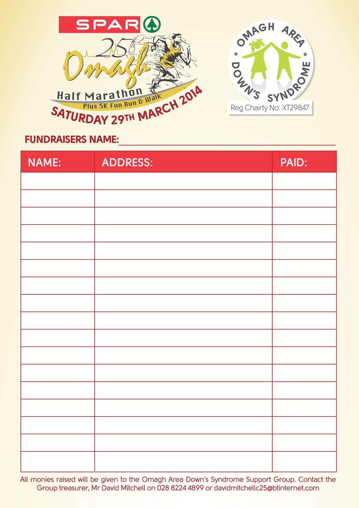 Editable 5k Registration Form