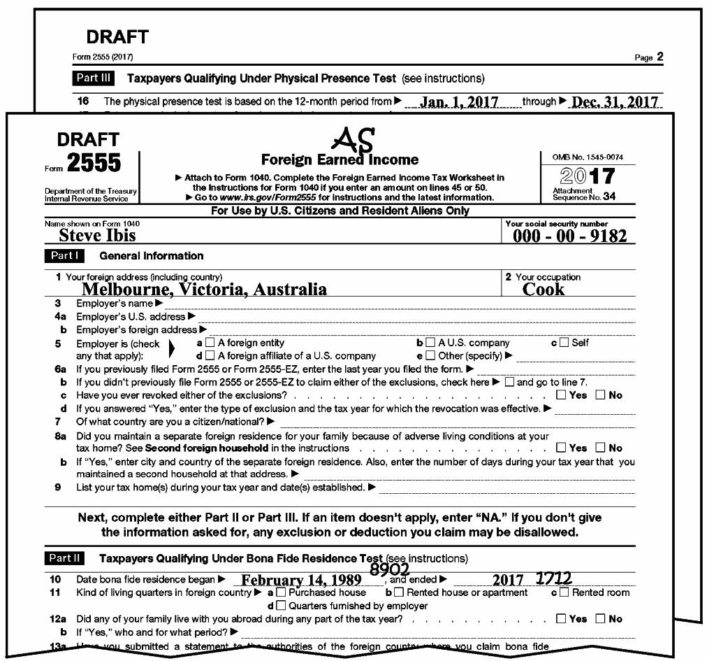 Federal Income Tax Form 1040a 2017