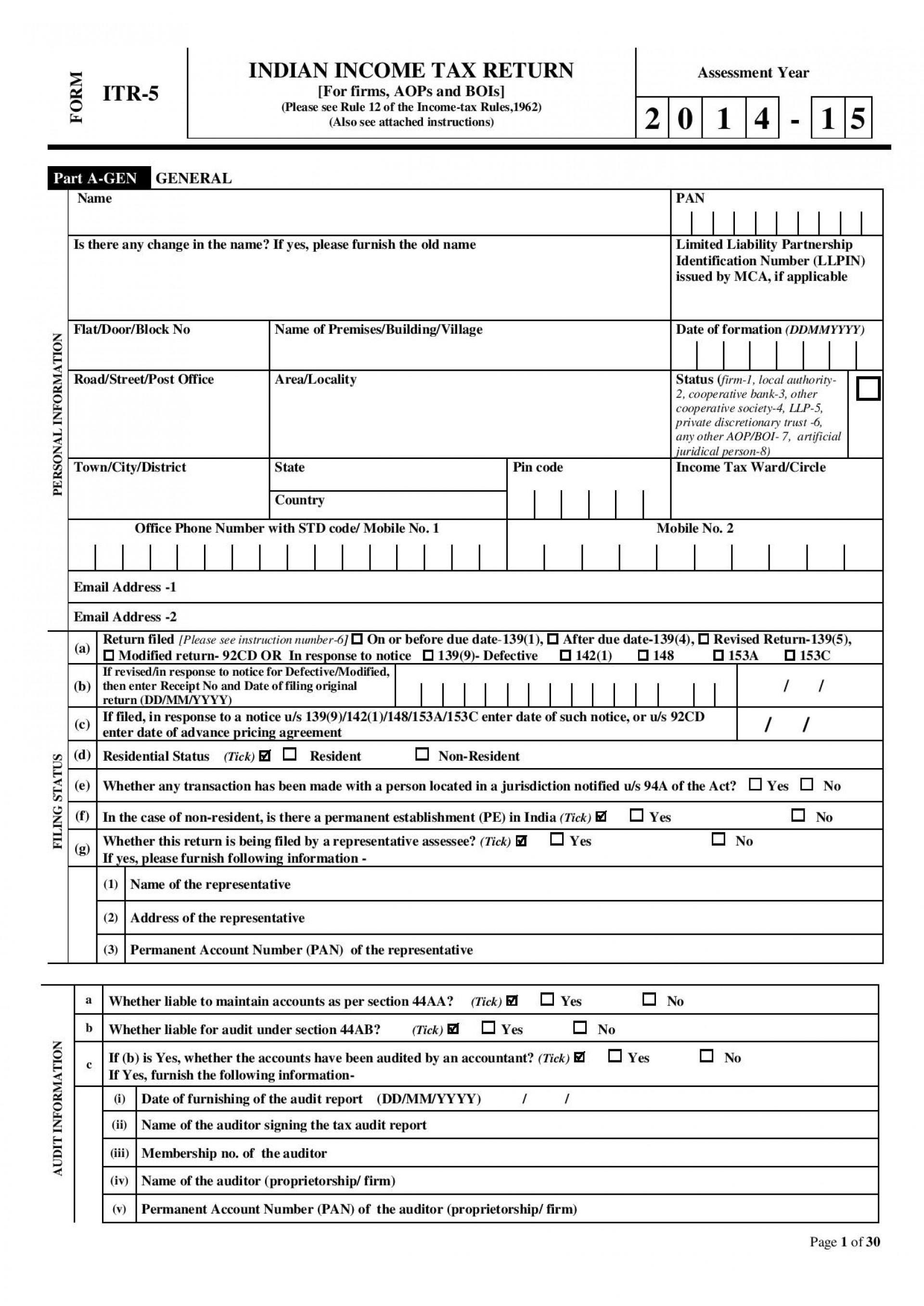 Federal Tax Form 1040a 2015