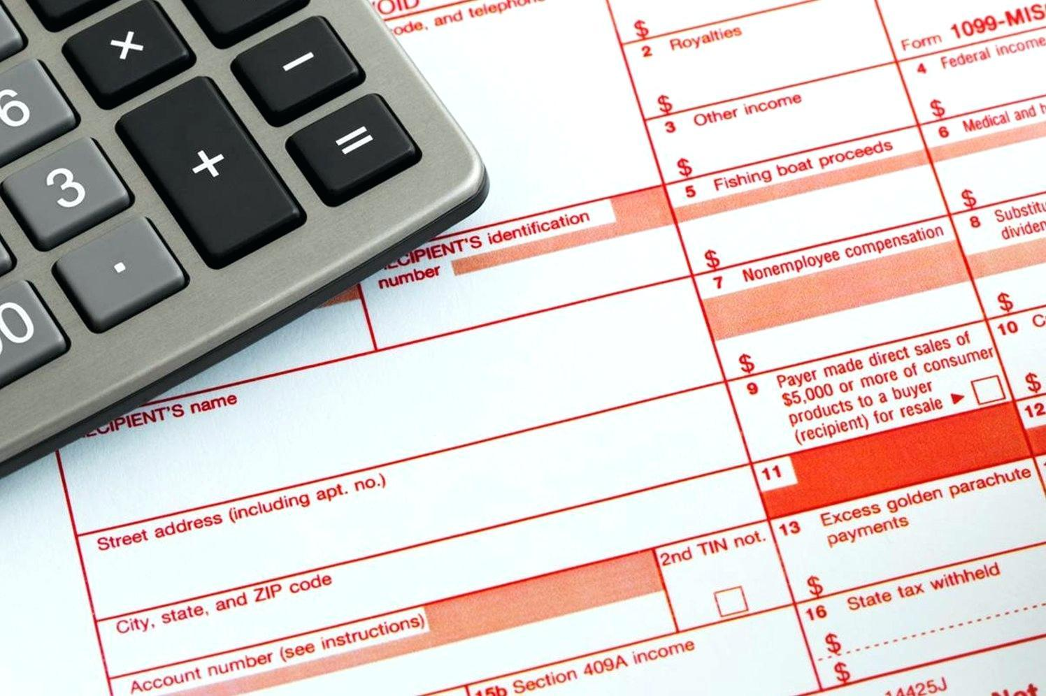 Federal Tax Form 1099 Misc Instructions