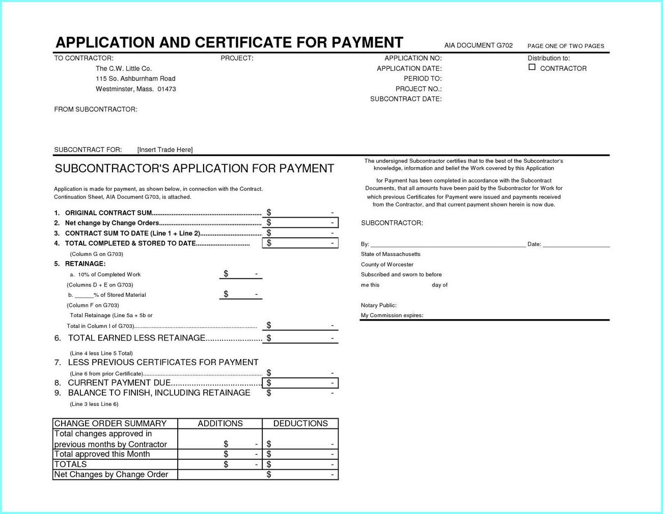 Filling Out Aia Form G702