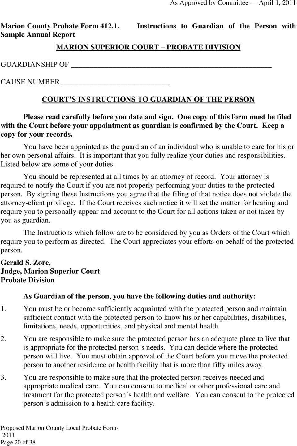 Florida Probate Forms Pdf