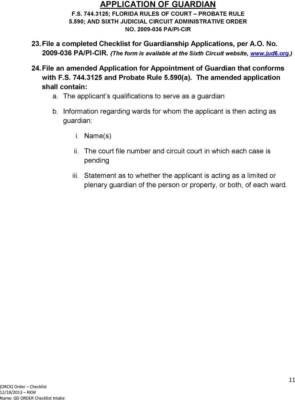 Florida Probate Rules Forms
