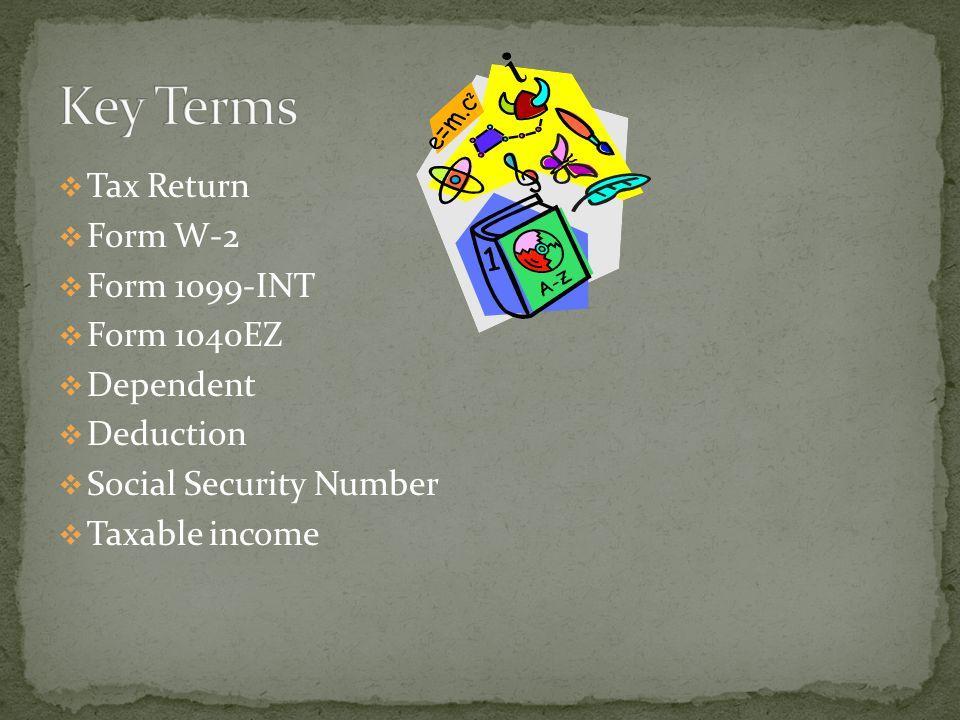 Form Tax Return 1099