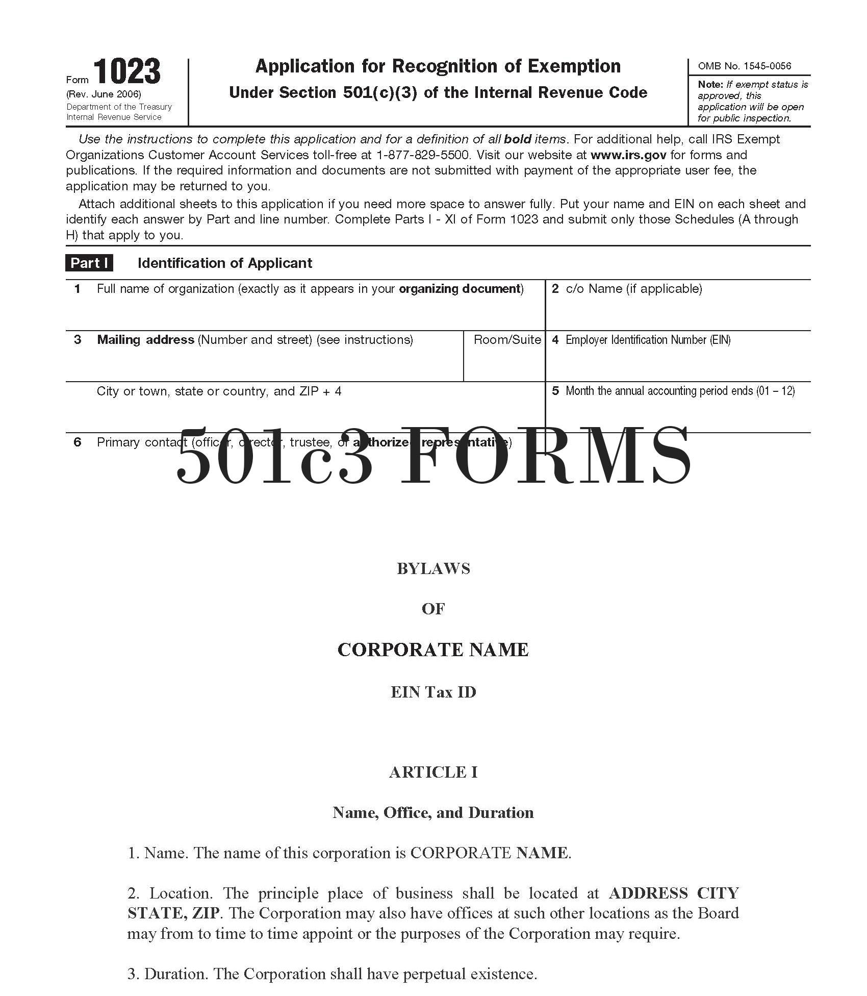 Forming A 501c3 In Florida