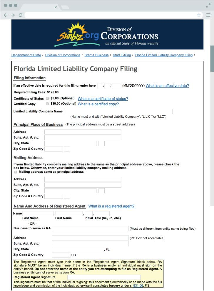 Forming An Llc In Florida Online