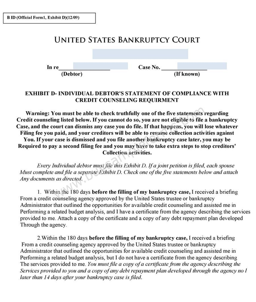Free Bankruptcy Chapter 7 Forms
