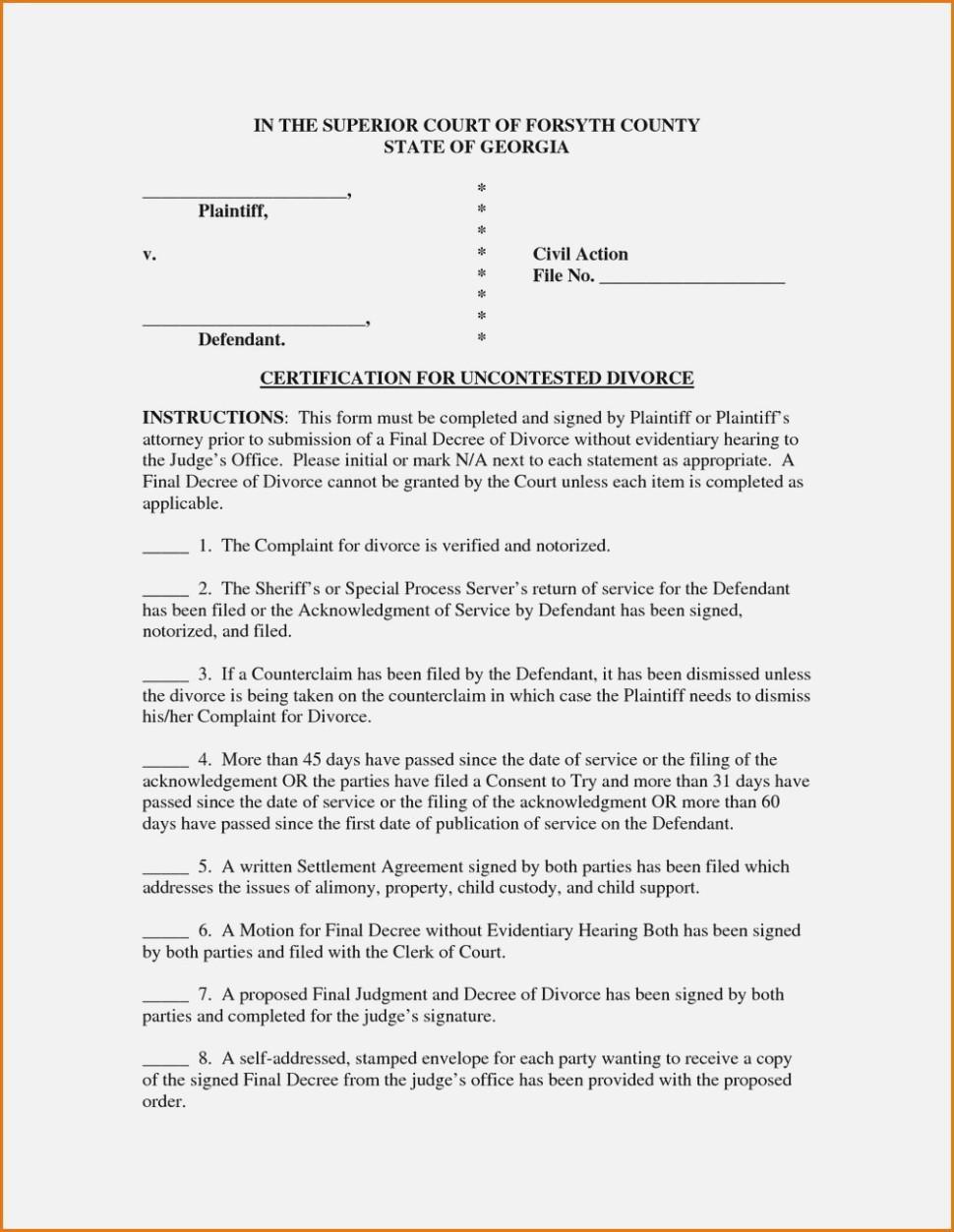 Free Ga Divorce Forms Online