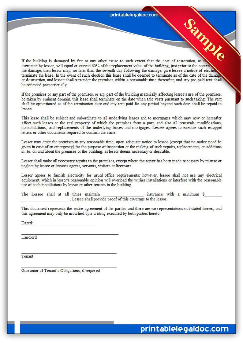 Free Legal Lease Forms