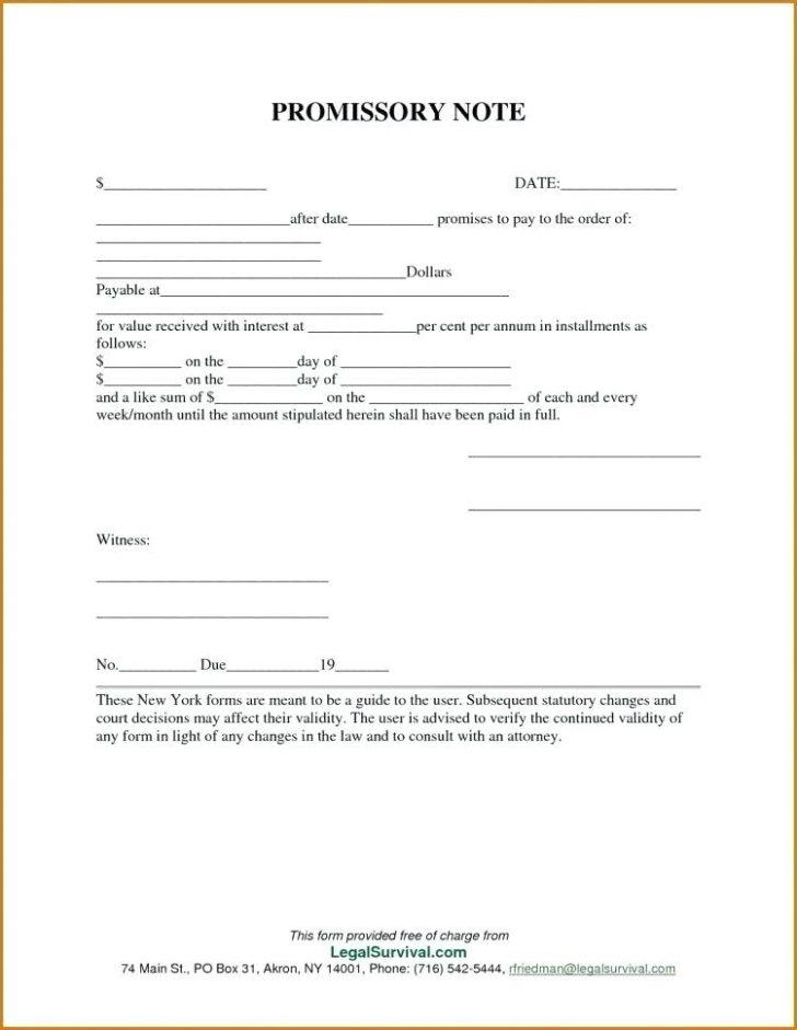 Free Online Promissory Note Form