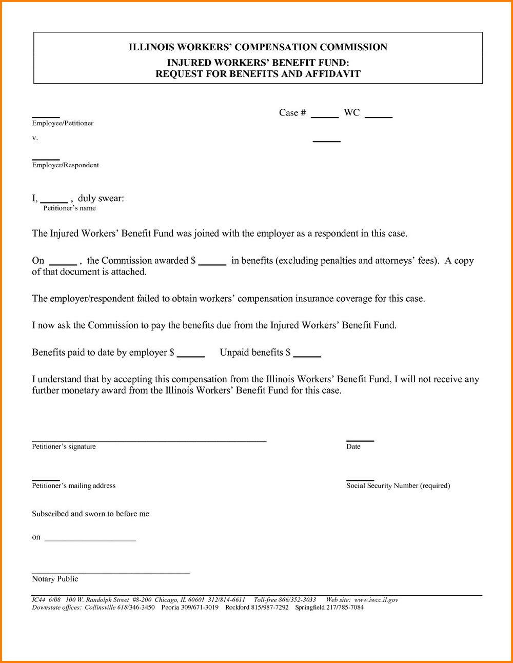Free Small Estate Affidavit Form California