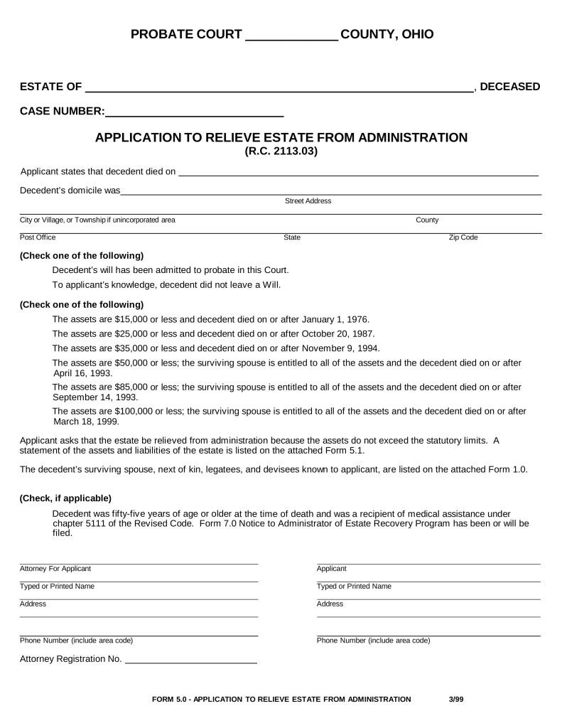 Free Small Estate Affidavit Form Ny