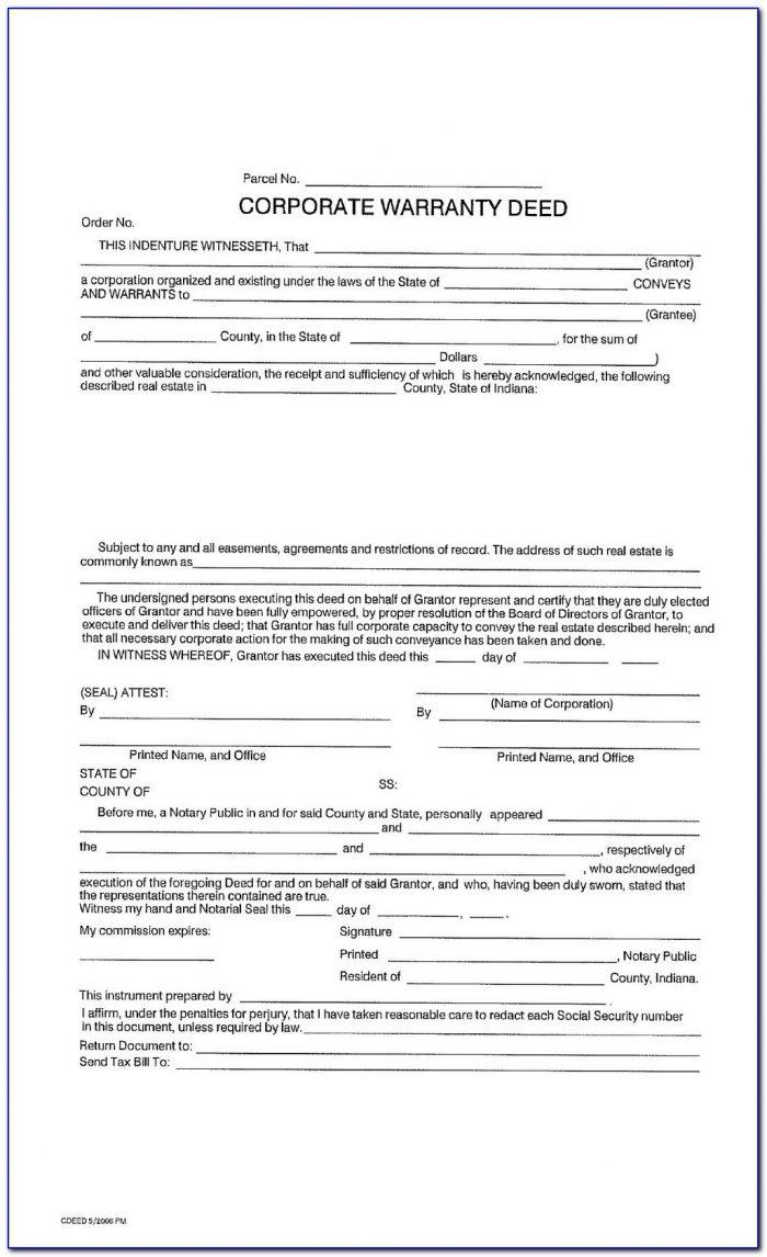 Free Texas Warranty Deed Form With Vendor's Lien