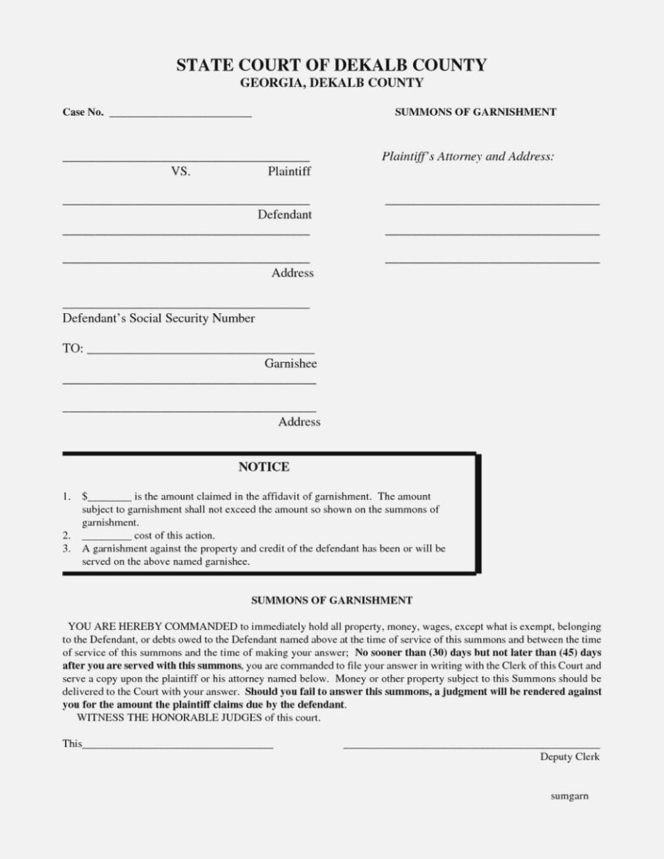 Ga Contested Divorce Forms