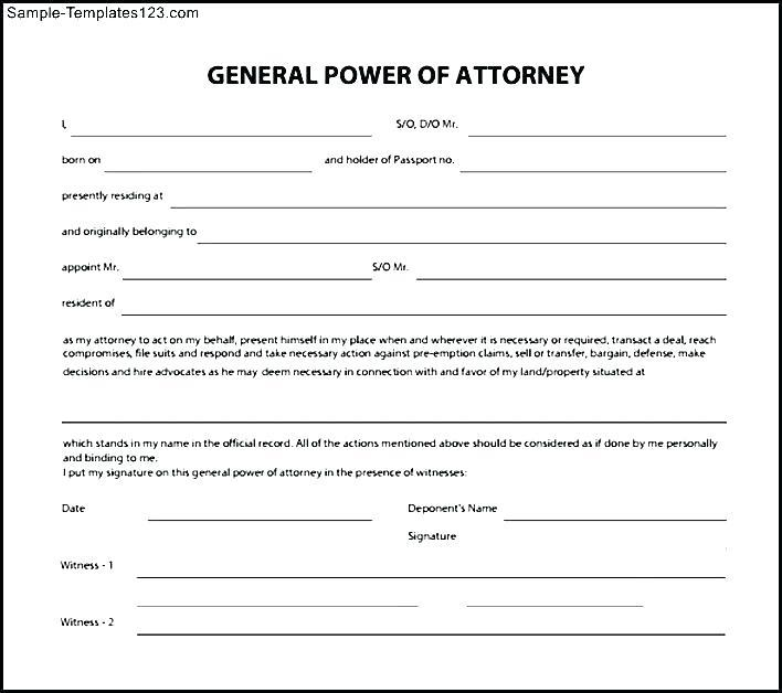 General Durable Power Of Attorney Form Illinois