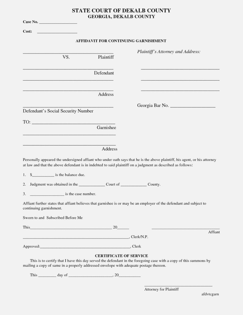 Georgia Divorce Forms Fulton County