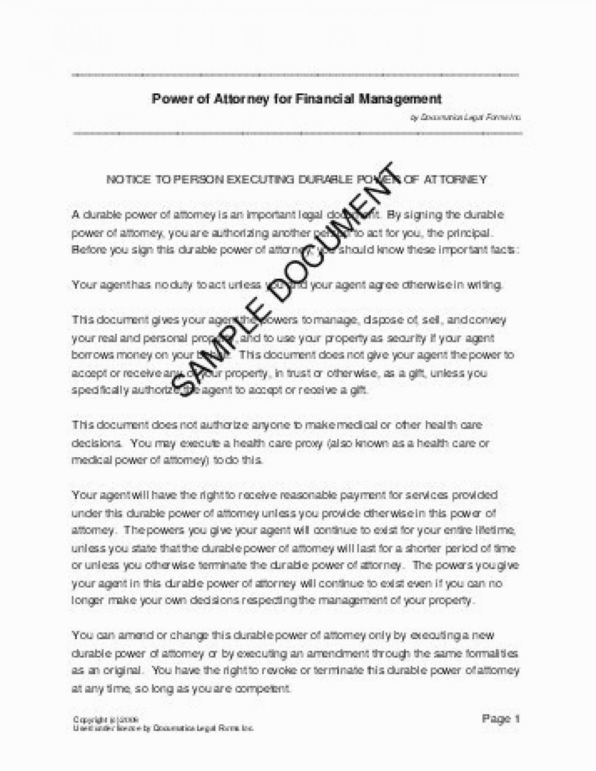 Georgia Power Of Attorney Format