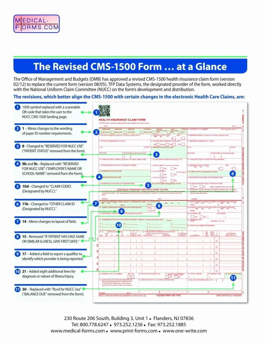 Hcfa 1500 Claim Form 212