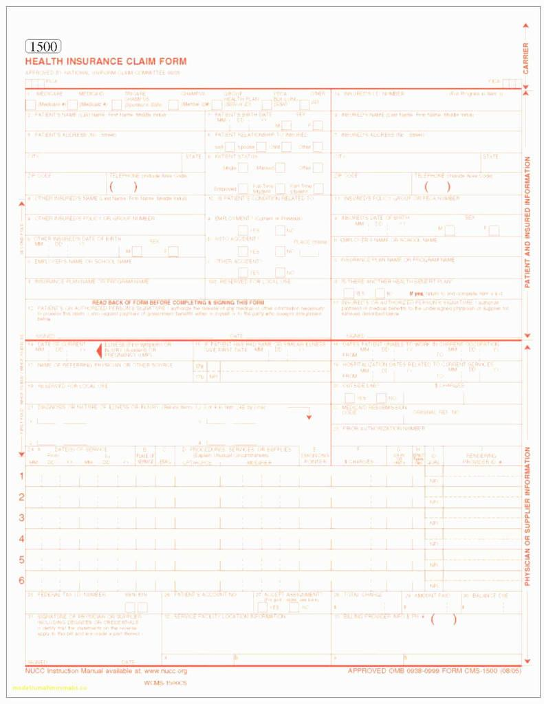 Hcfa 1500 Form Instructions 2017