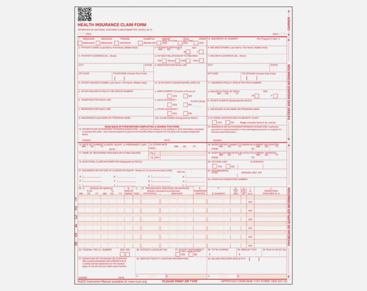 Hcfa 1500 Form Instructions