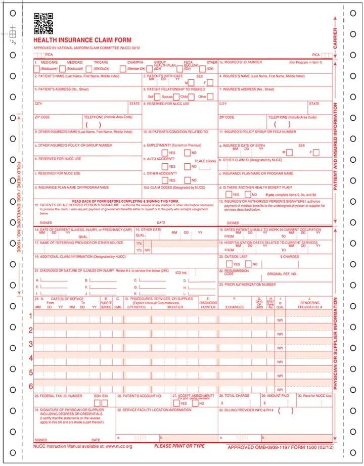Hcfa 1500 Forms Free Download