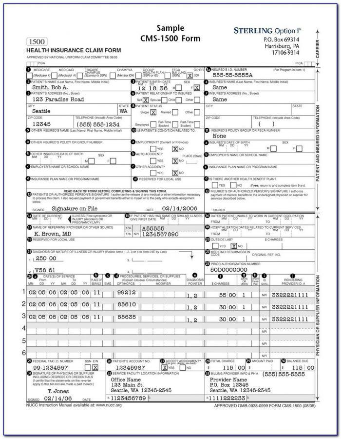 Hcfa Form 1500 Fillable