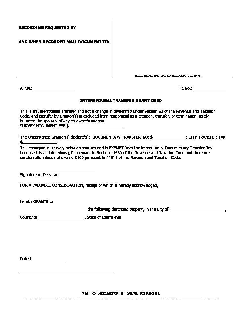 How To Fill Out Grant Deed Form California