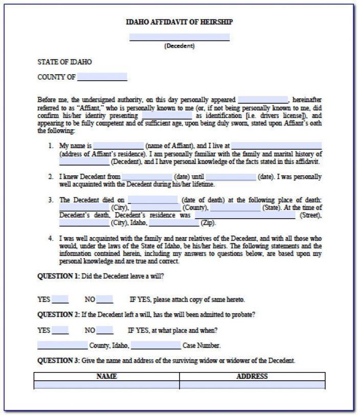 Idaho Court Divorce Forms