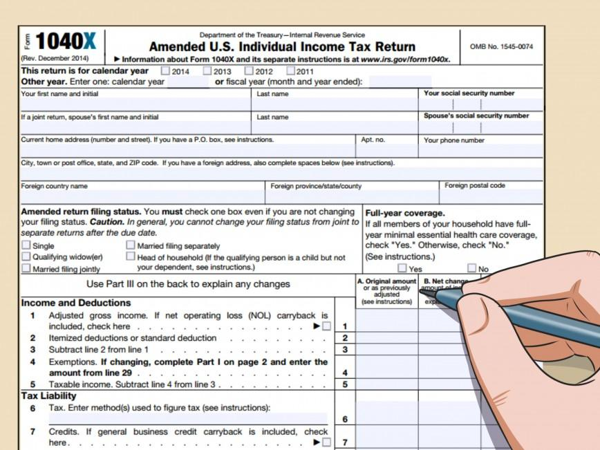 Income Tax Form 1040 Instructions