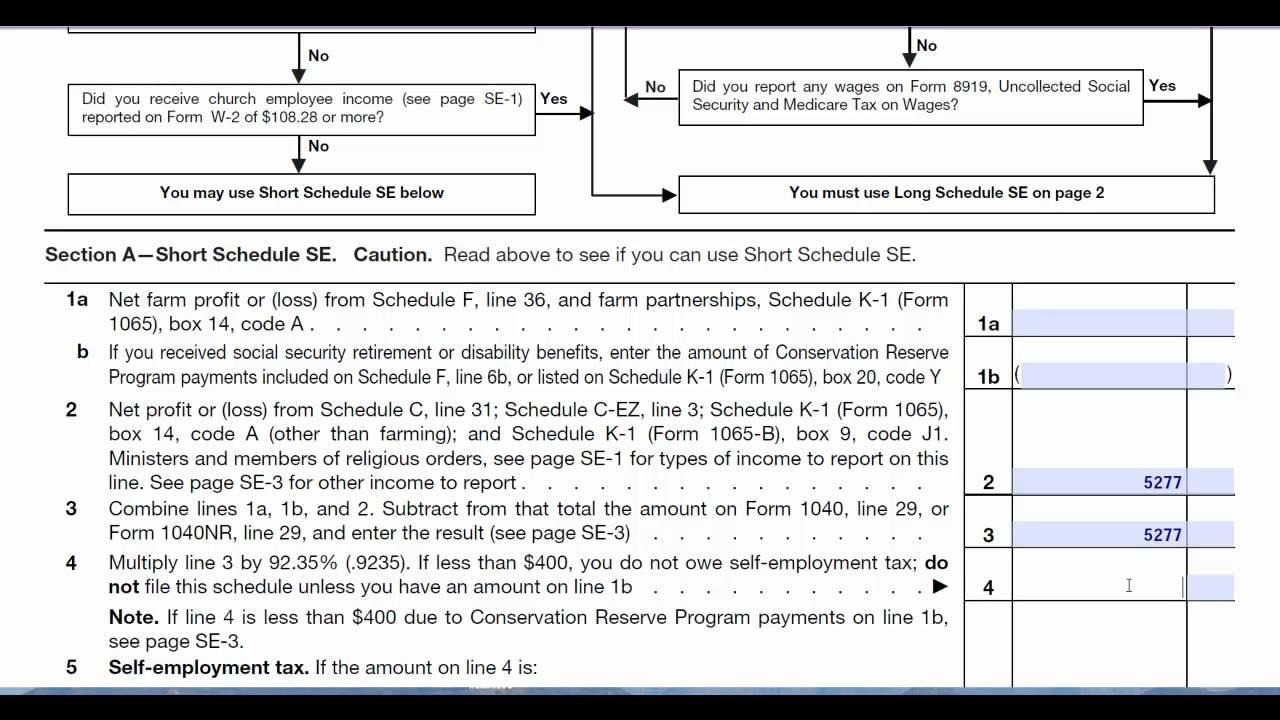 Income Tax Form 1040 Schedule C