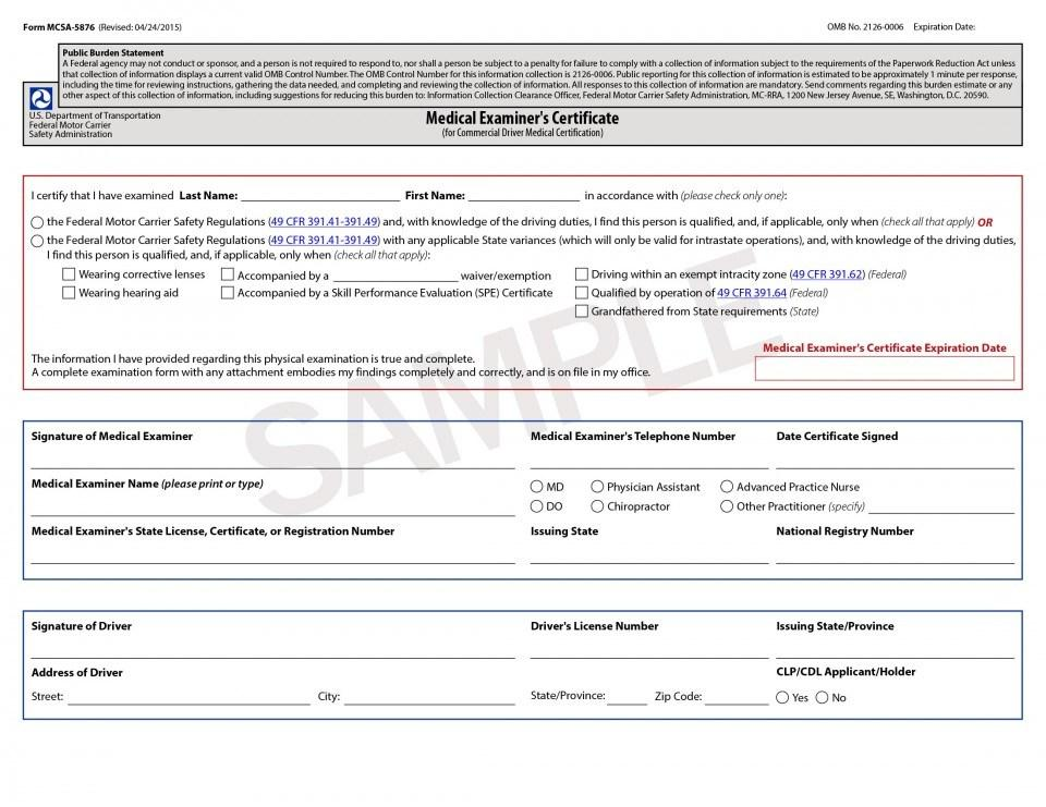 Indiana Dot Physical Forms