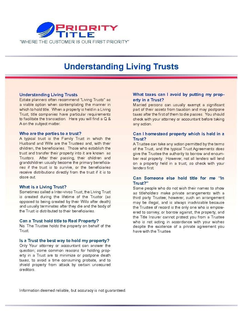 Irrevocable Living Trust Form