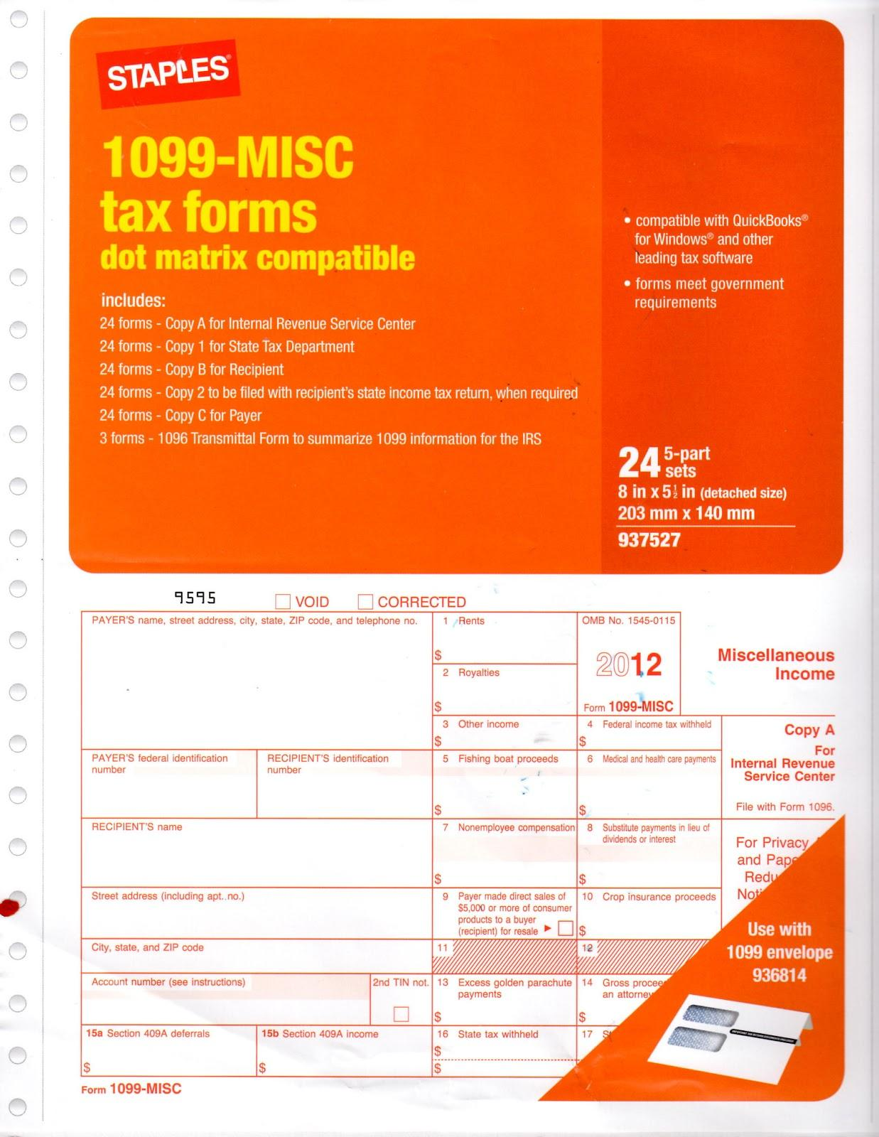 Irs 1099 Misc Correction Form