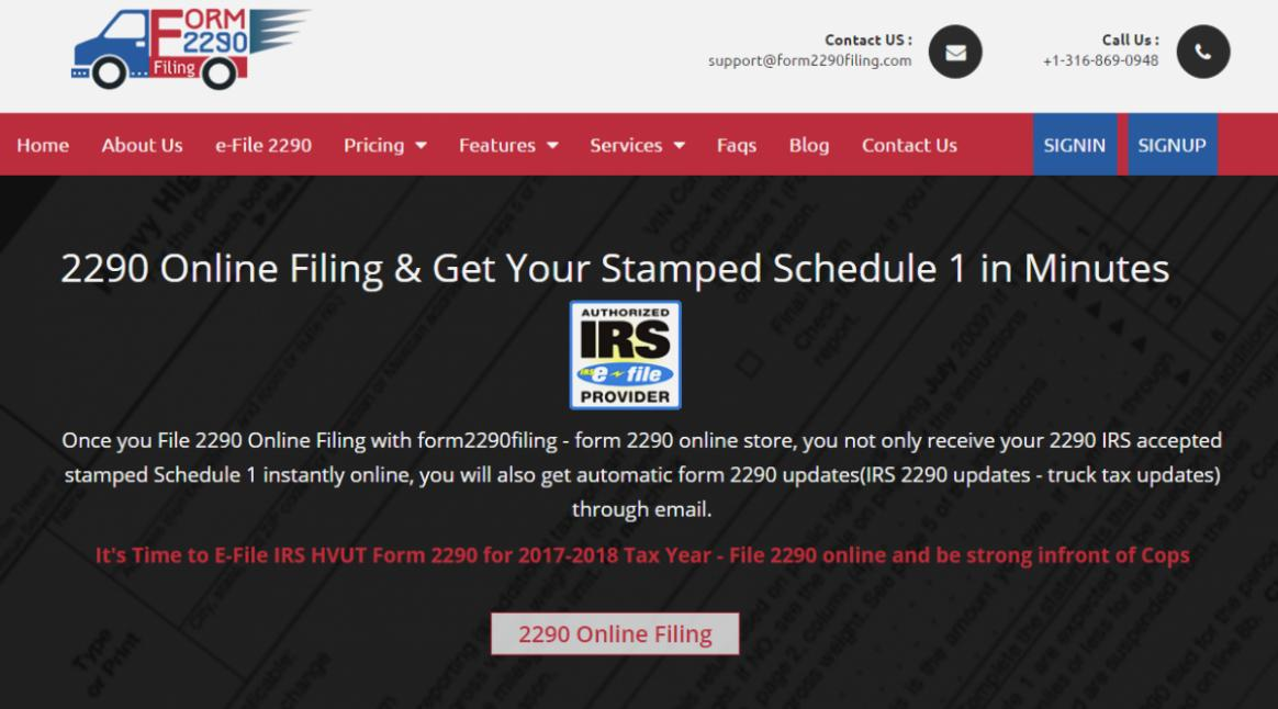 Irs 2290 Form Online