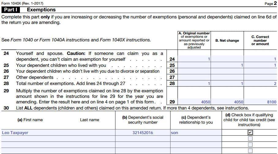 Irs Form 1040x Mailing Address