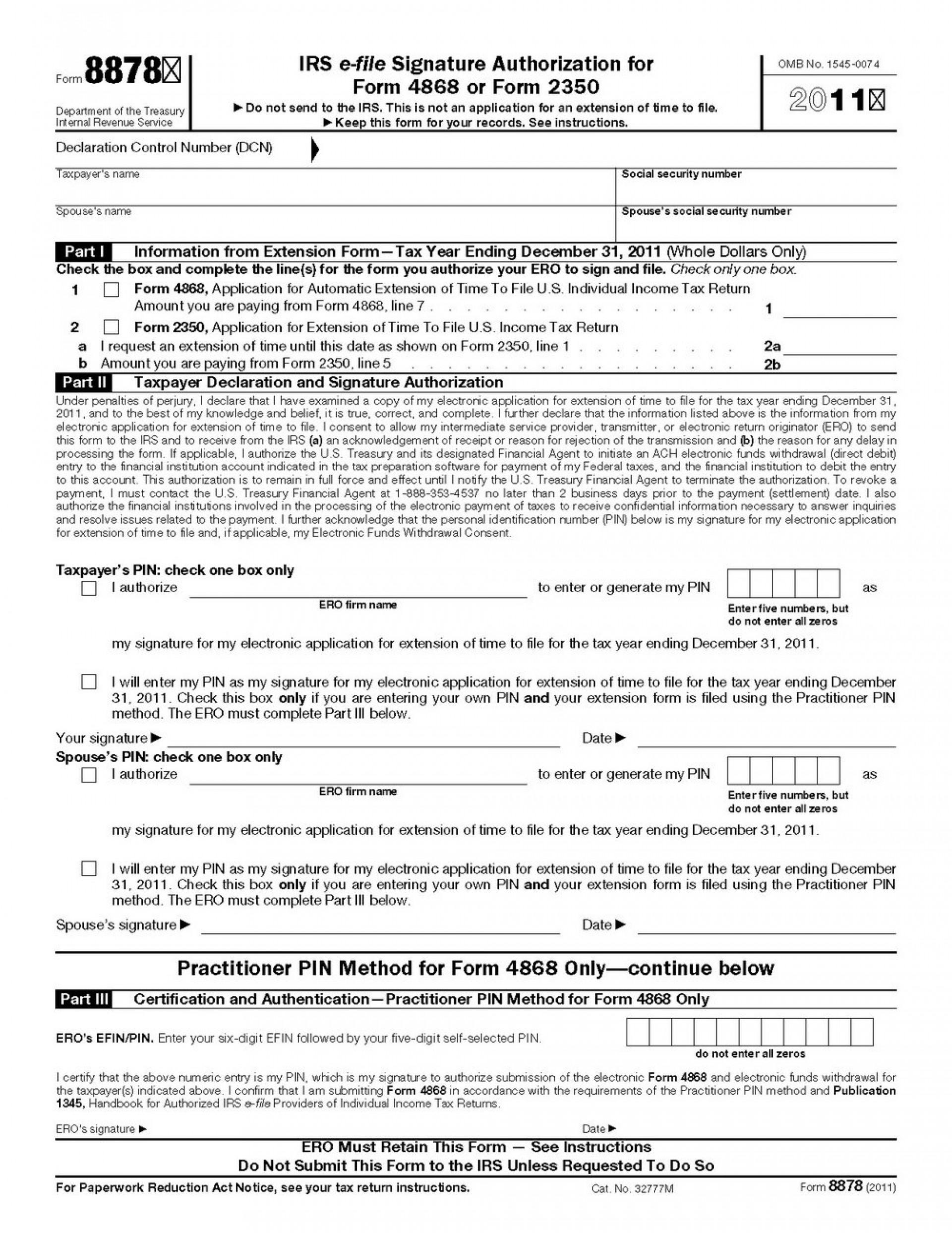 Irs Form 4868 Electronically File