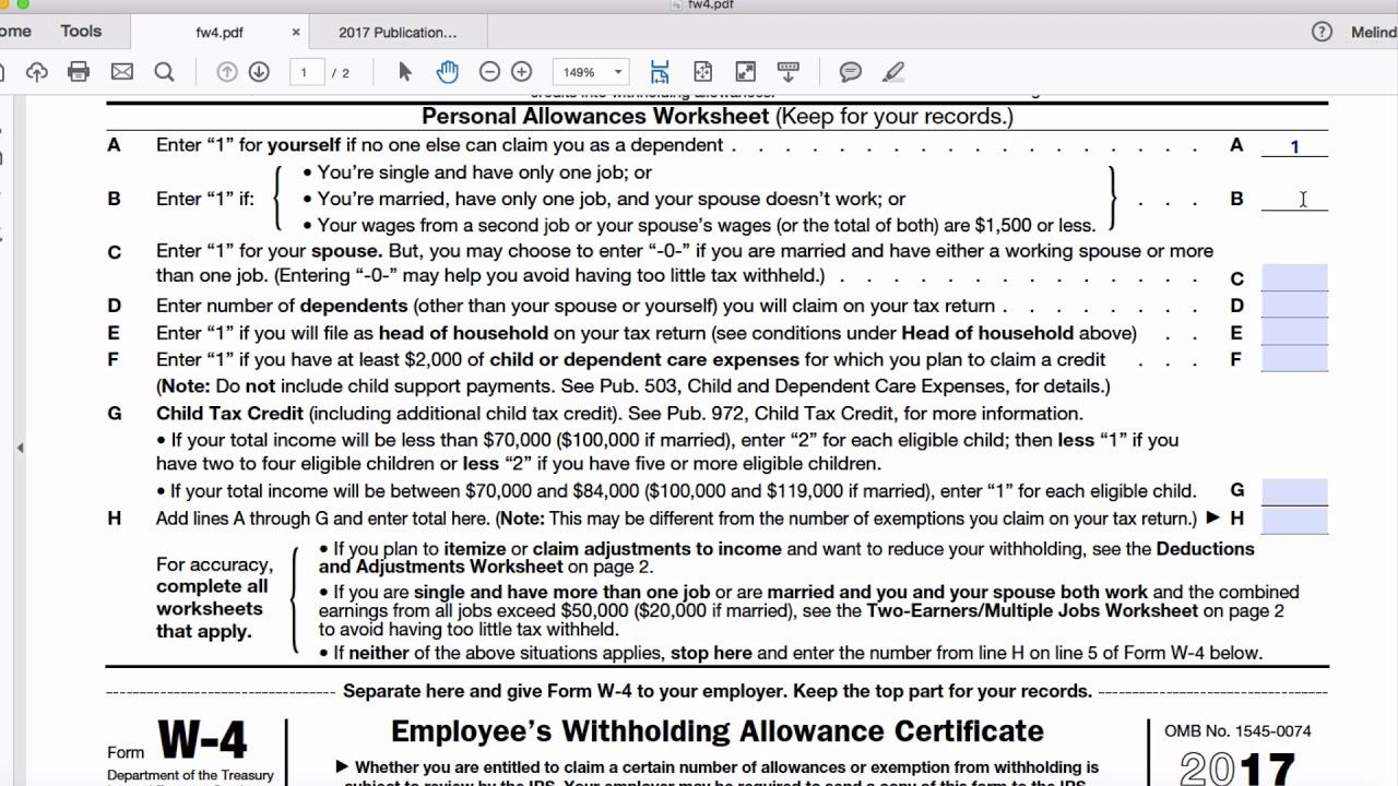 Irs Forms 2018 W 4p