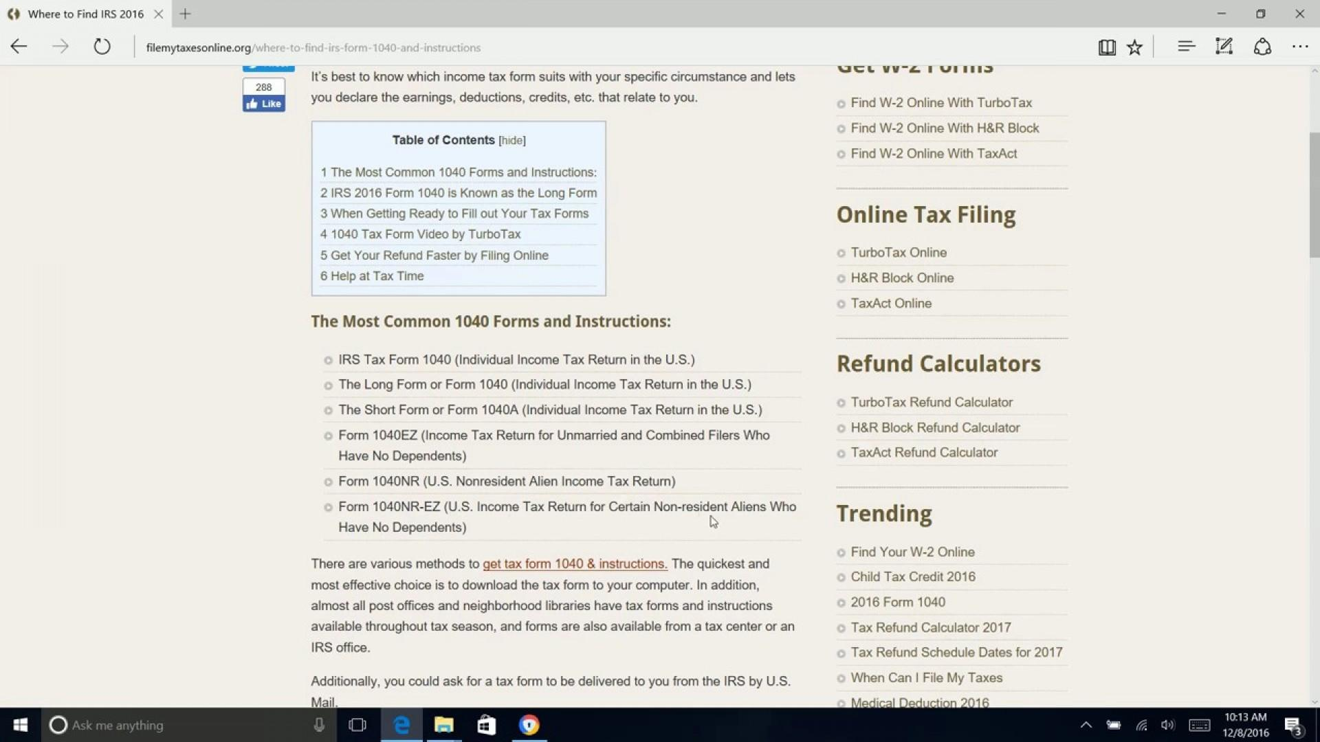 Irs Tax Form 1040ez 2015 Instructions