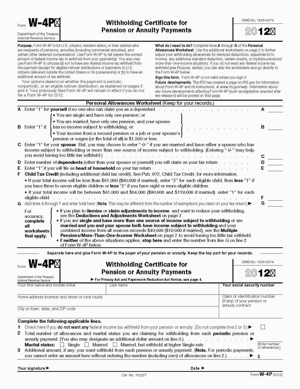 Irs Tax Forms 2018 W 4