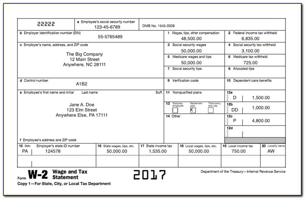 Irs W 2 Forms 2015