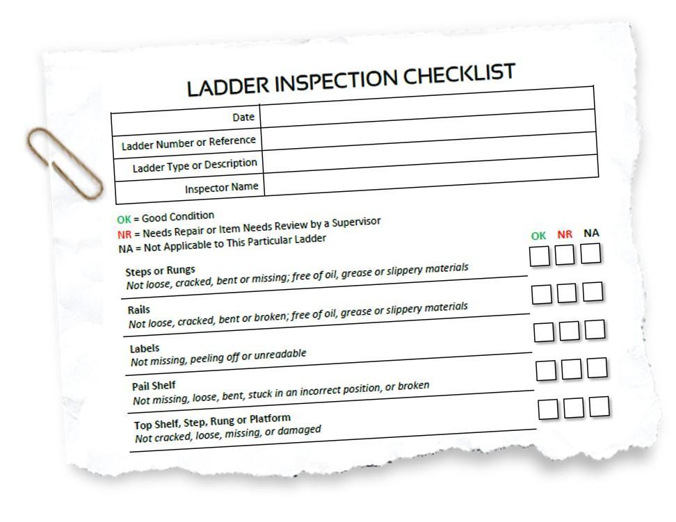 Ladder Inspection Form Hse
