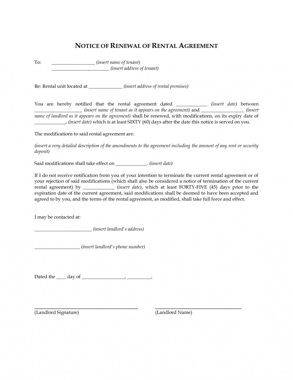 Lease Extension Form Illinois
