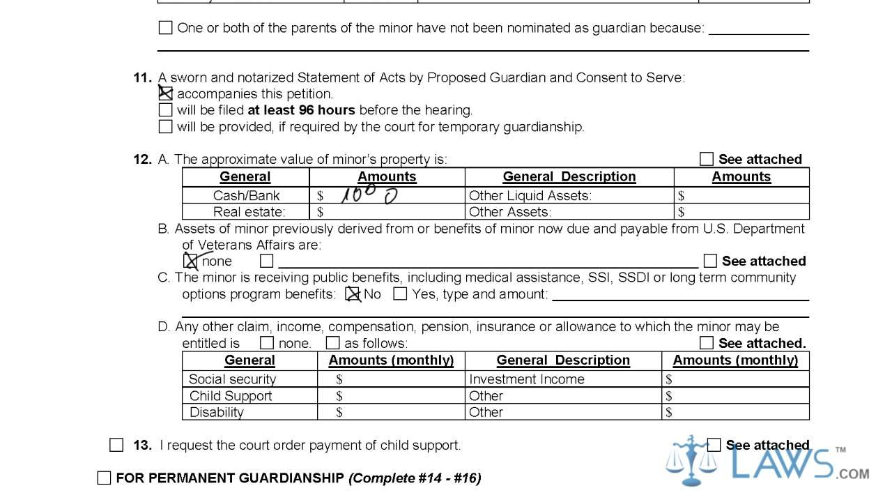 Legal Guardianship Forms For Minors