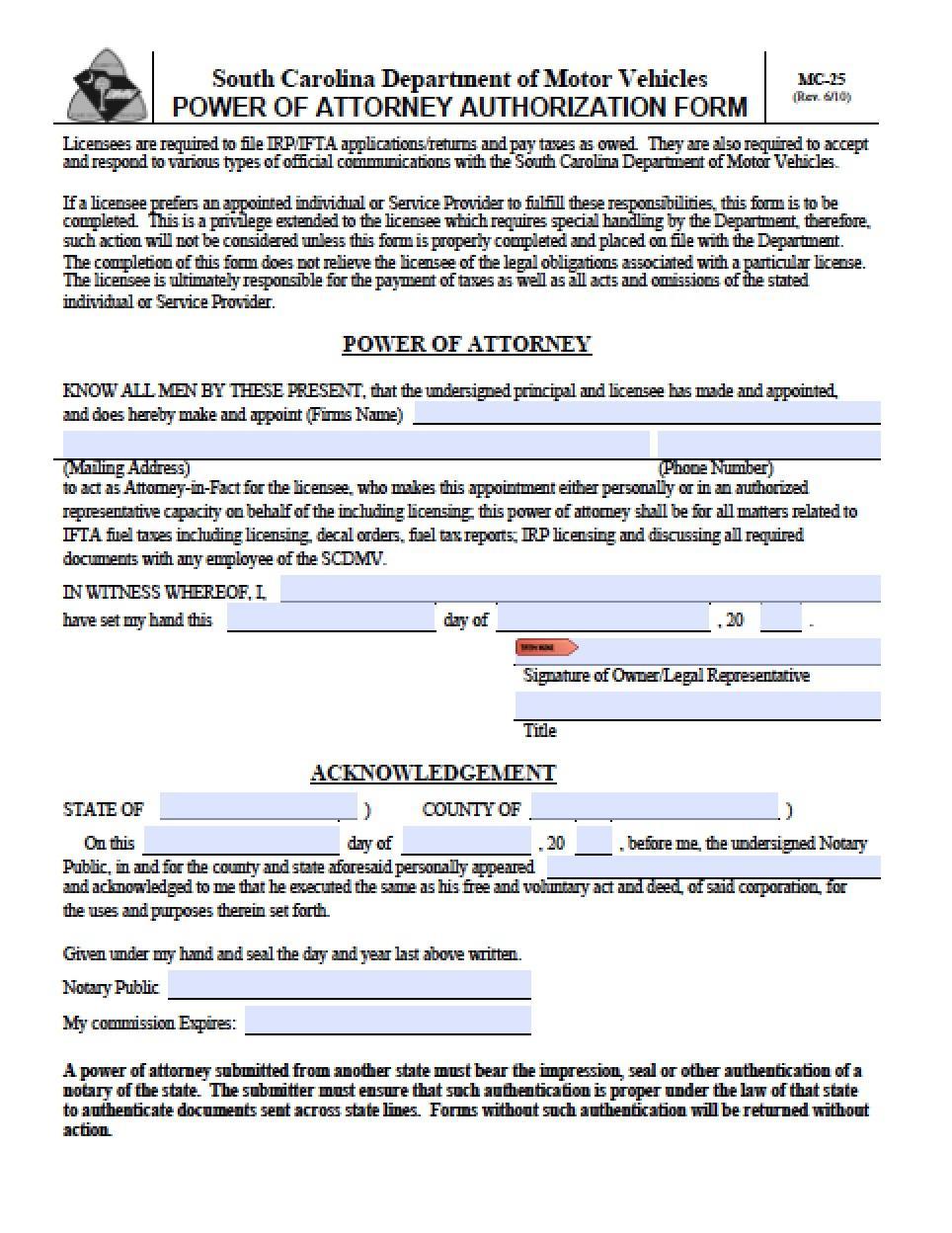 Legal Guardianship Forms South Carolina