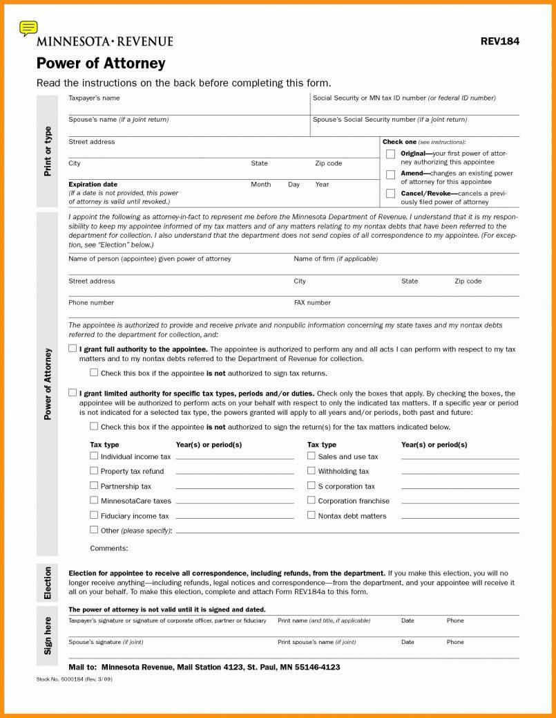Limited Power Of Attorney Form Missouri