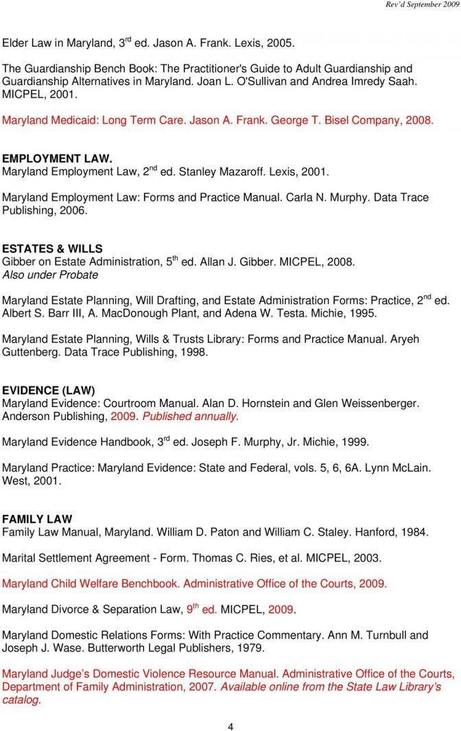 Maryland Divorce Filing