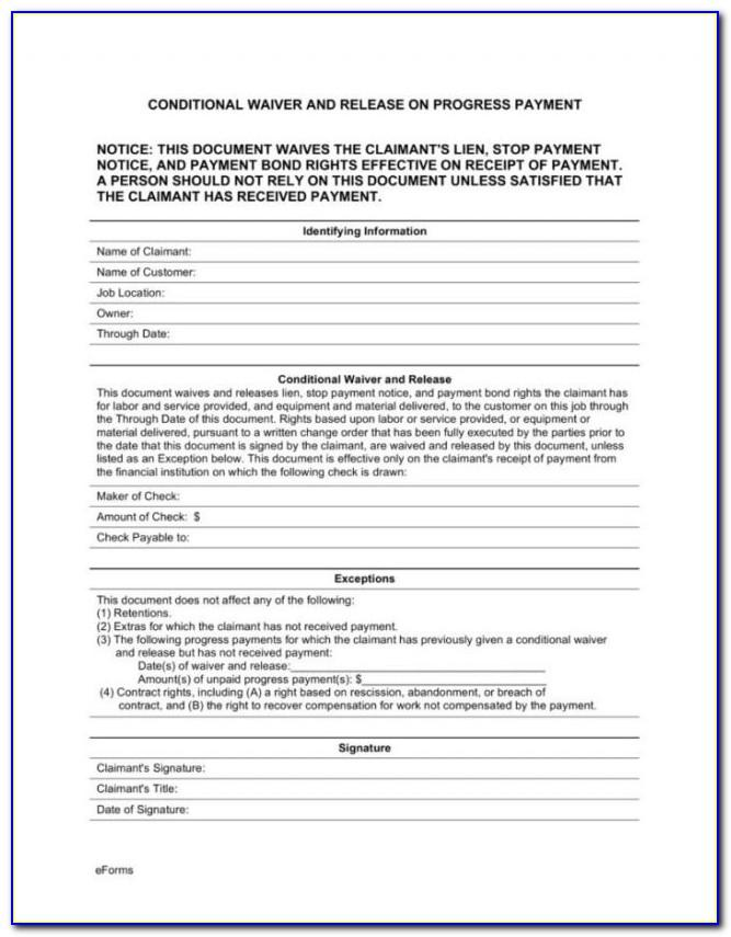 Mechanic Lien Form Wisconsin