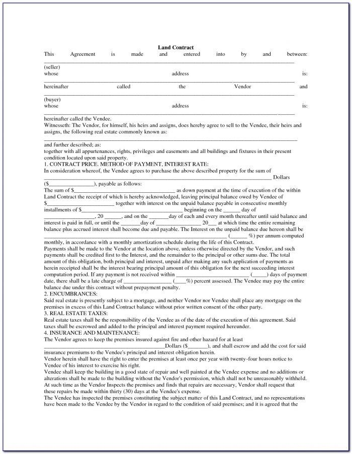 Michigan Land Contract Forfeiture Form