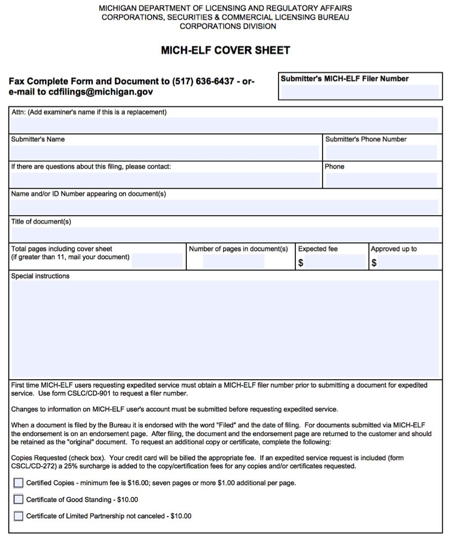 Michigan.gov Llc Forms