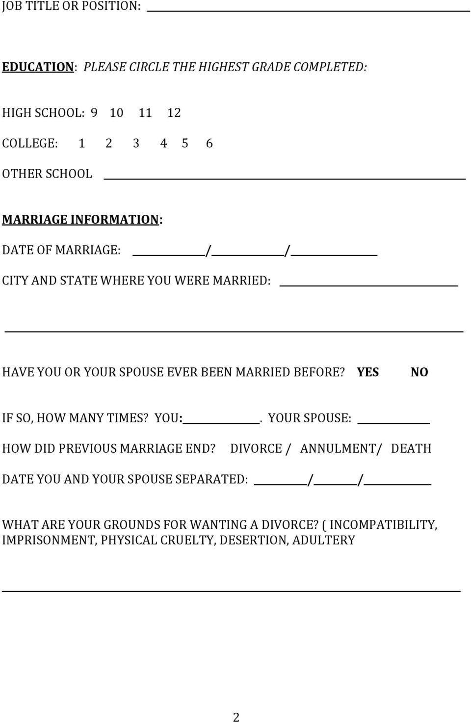 Montgomery Alabama Divorce Forms